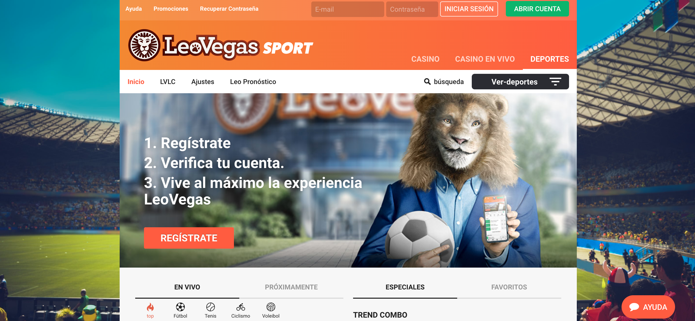 leovegas main page