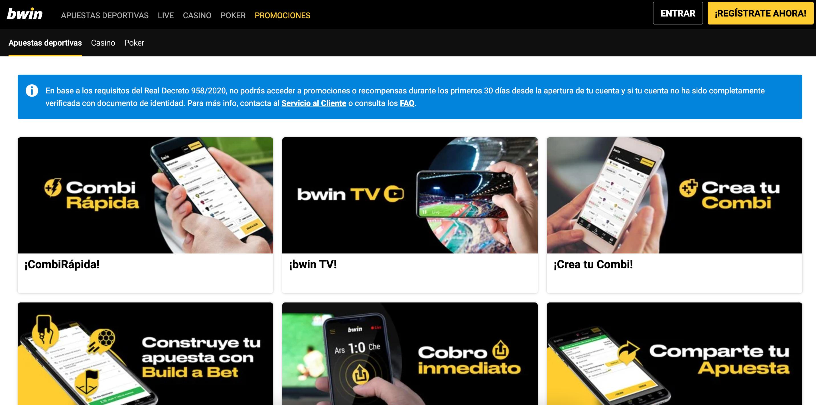 bwin main page