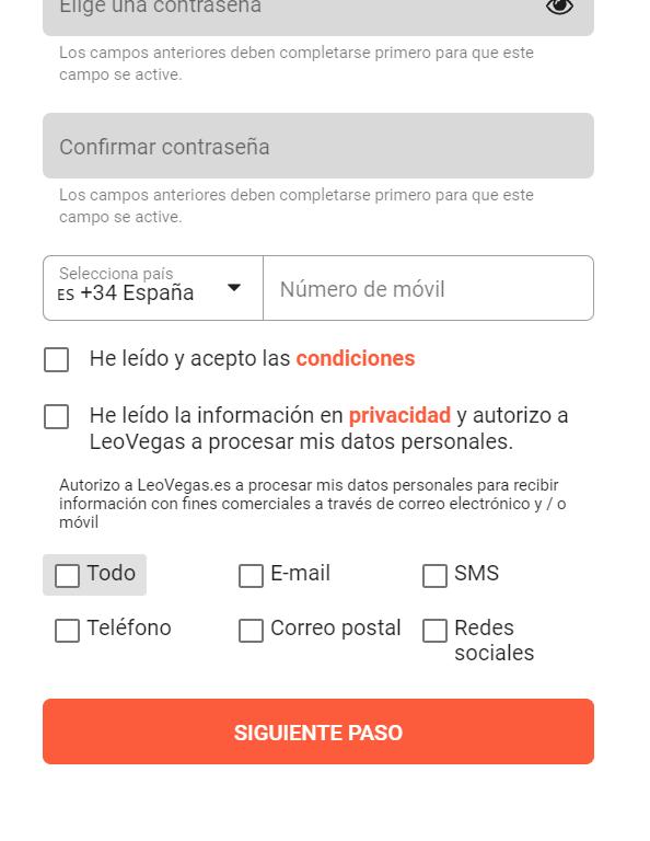 register leovegas.es